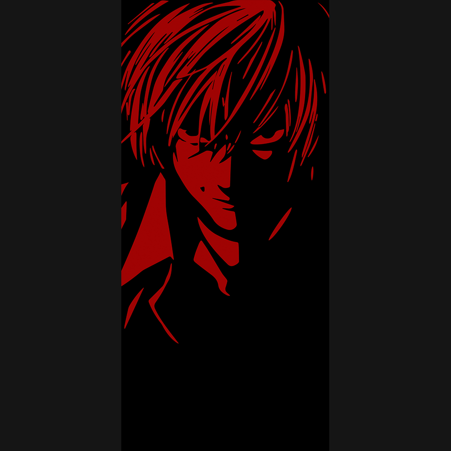 Tablou canvas anime Death Note Light Yagami BLACK&RED