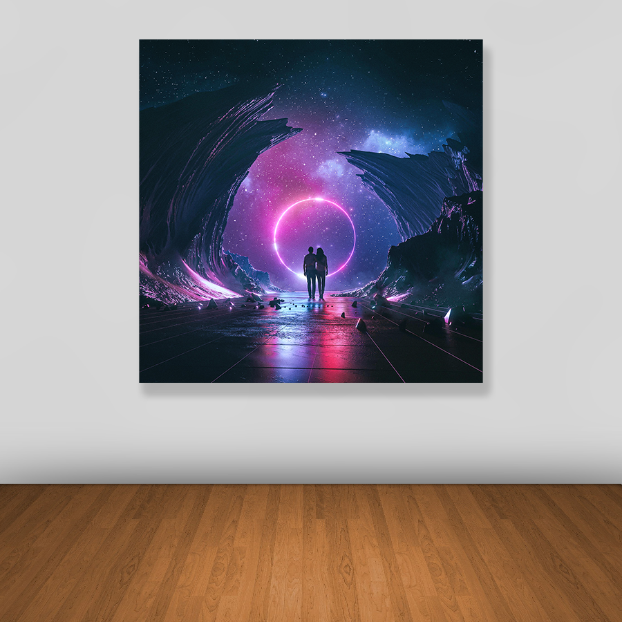 Tablou canvas abstract SPACE COUPLE