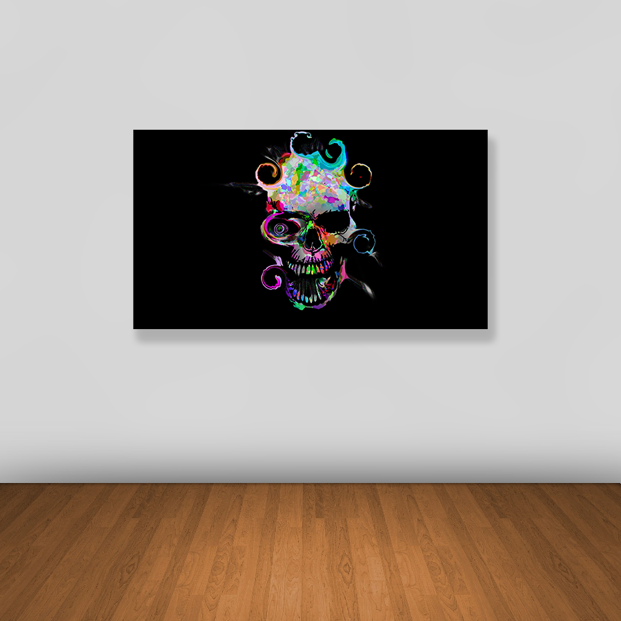 Tablou canvas abstract COLORFUL SKULL