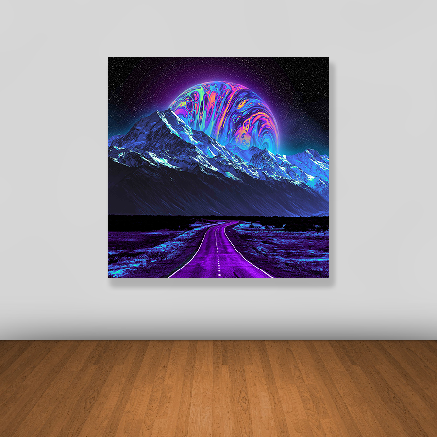 Tablou canvas abstract COLORFUL PLANET